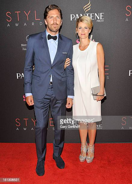 'Most Stylish Athlete' Henrik Lundqvist and wife Therese Anderson attends the 9th Annual Style Awards during Spring 2013 MercedesBenz Fashion Week at...