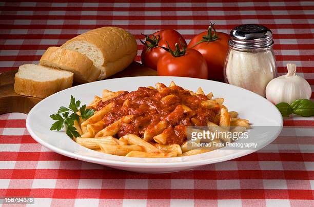 mostaccioli with sauce -  firak stock pictures, royalty-free photos & images