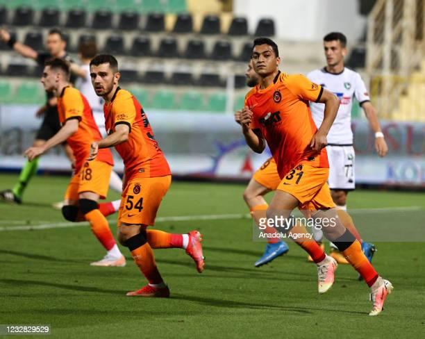 Mostafa Mohamed Ahmed Abdalla of Galatasaray celebrates after scoring a goal during the Turkish Super Lig week 41 match between Yukatel Denizlispor...