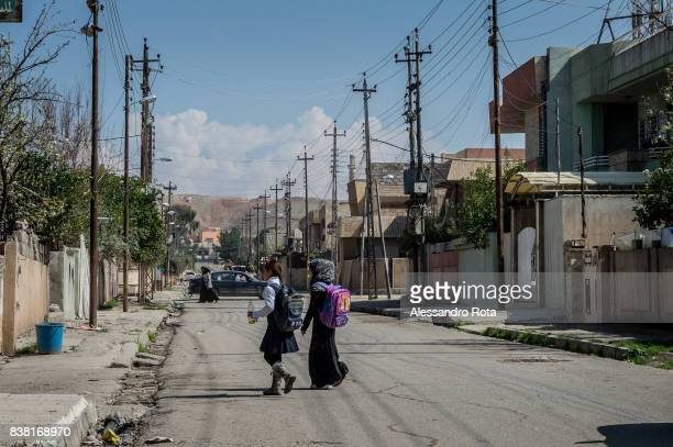 IRAQ Mosul East 14 Mar 2017 Daily life in the East side is less affected by the conflict despite artillery shots are heard on a regular basis