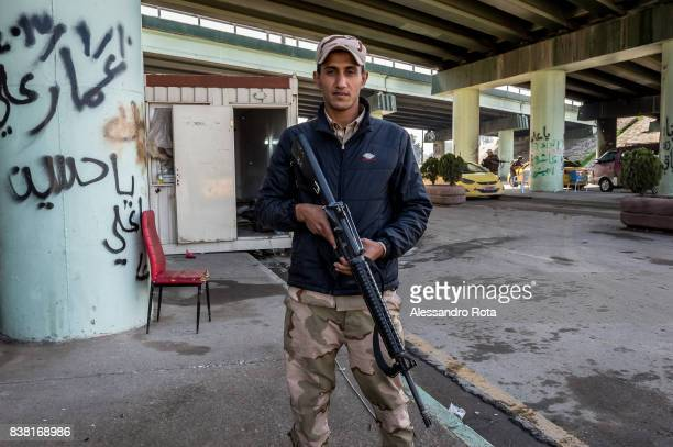 IRAQ Mosul East 14 Mar 2017 The last checkpoint before the battlefield of the last resistante of ISIS/Daesh in Mosul The place get regular attacks...