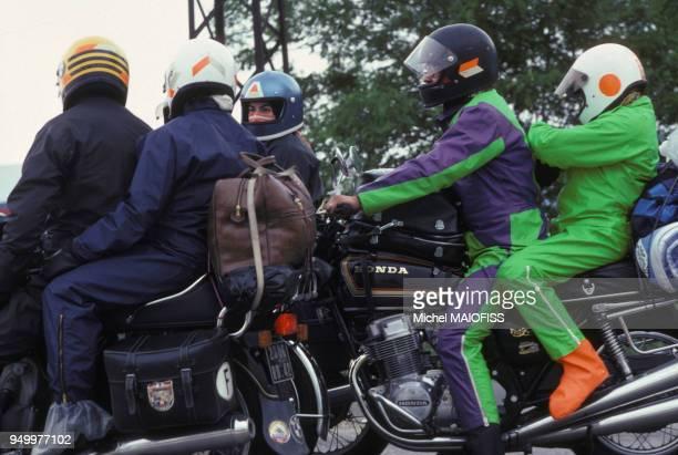 Motards en juillet 1979 à Marseille France