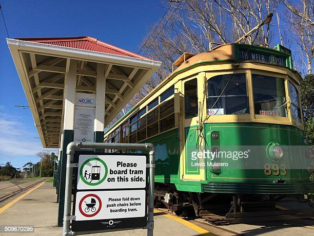 Motat tram at Western Springs Station Auckland New Zealand