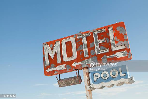 Motel Sign Along Historic Route 66, Retro, Nostalgia