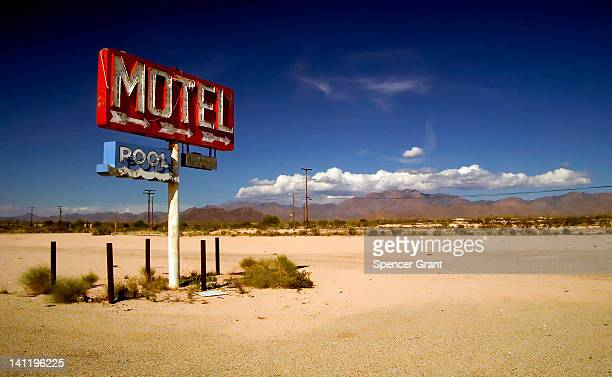 Motel sign with no motel