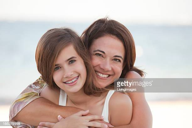 Mother & Daughter on the Beach