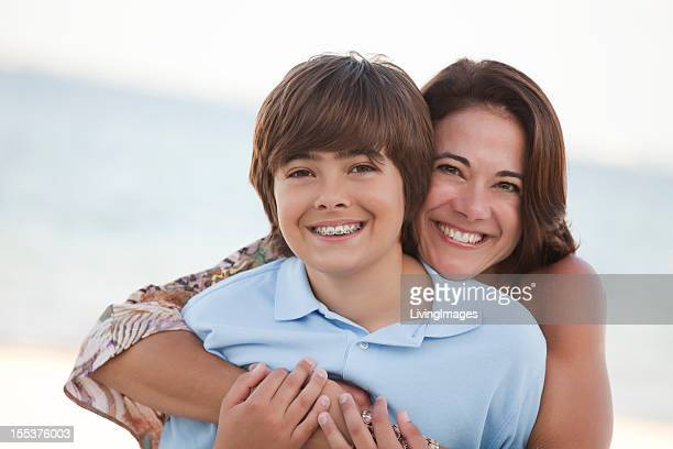 Mother & Son on the Beach