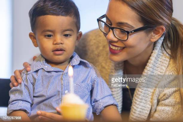 mother and baby celebrate birthday - happy birthday canada stock pictures, royalty-free photos & images