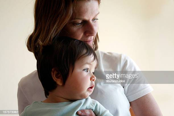 mother and baby child portrait - niece stock photos and pictures