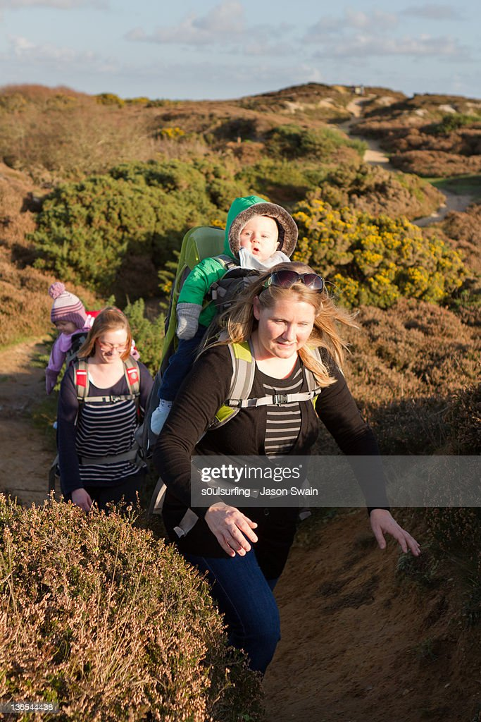 Mother and baby Coastal Walk : Stock Photo