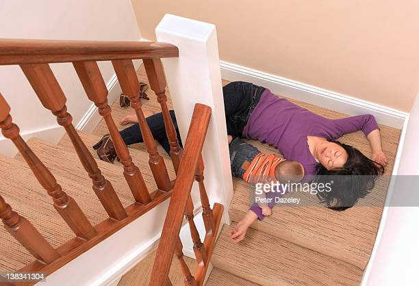 Mother and baby fallen downstairs