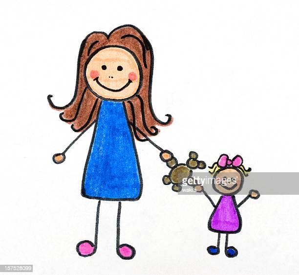 Mutter und Kind Malen