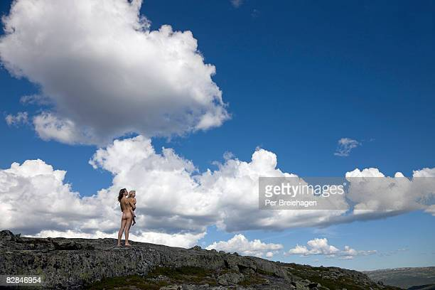 Mother and child naked