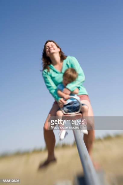 Mother and Child on See-Saw
