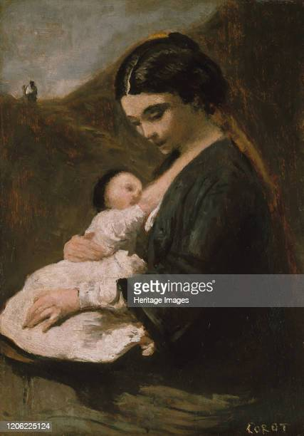Mother and Child probably 1860s Artist JeanBaptisteCamille Corot