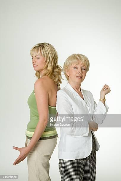 Mère et fille Se disputer