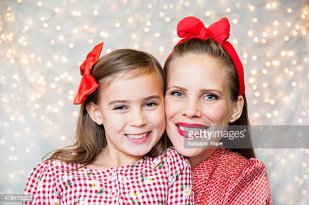Mother and Daughter at Christmas