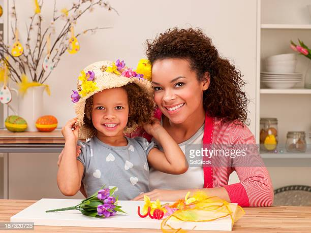 Mother and Daughter at Easter Time