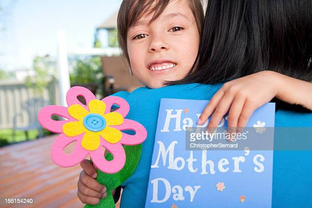 mother and daughter celebrating mother's day - chinese mothers day stock pictures, royalty-free photos & images