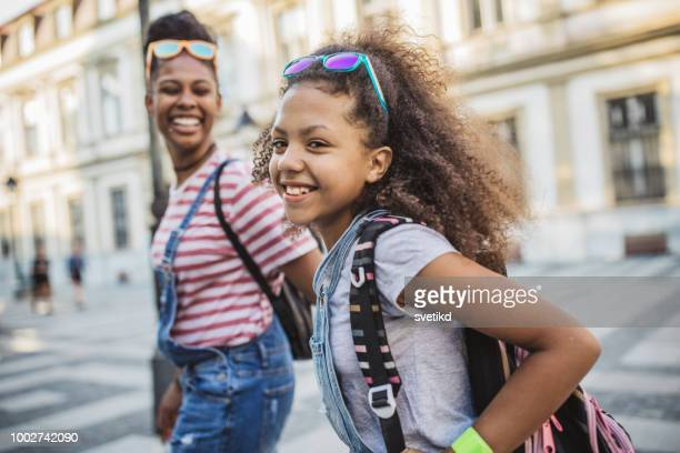 mother and daughter enjoy in walk - pre adolescent child stock pictures, royalty-free photos & images