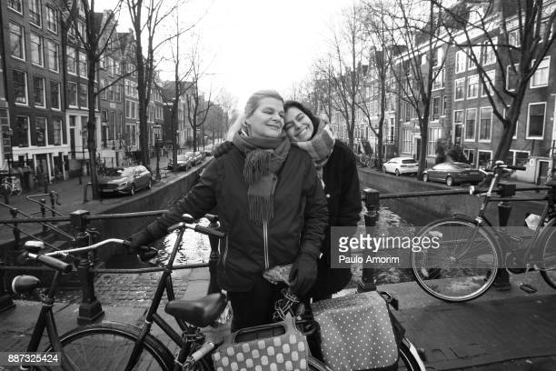 Mother and daughter enjoying in Amsterdam