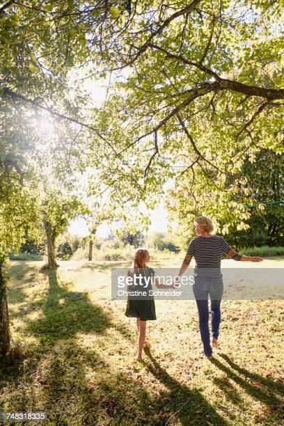 Mother and daughter enjoying park