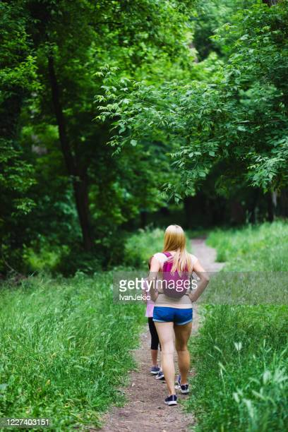 mother and daughter exploring the nature - ivanjekic stock pictures, royalty-free photos & images