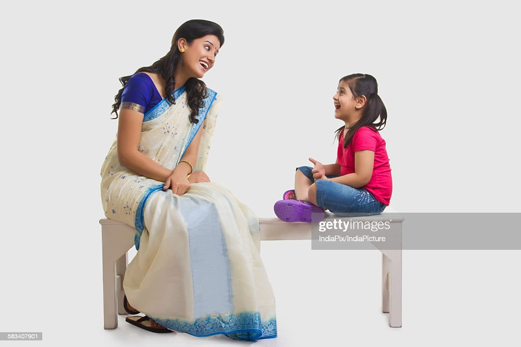 Mother and daughter having a laugh : Stock Photo