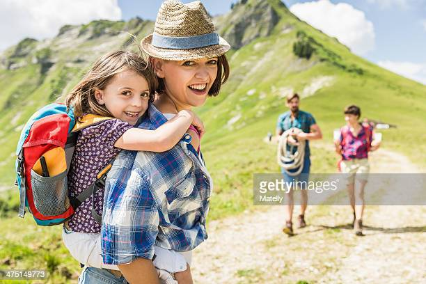 Mother and daughter hiking, Tyrol, Austria