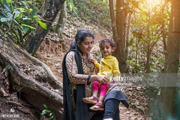 mother daughter forest outdoor kerala