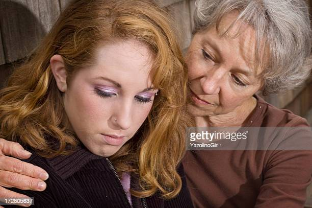 Mother and Daughter in Grief