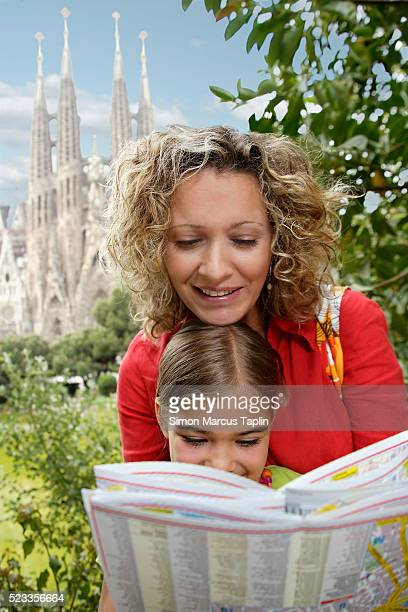 Mother and Daughter Looking at a Map