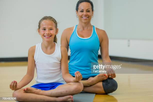Mother And Daughter Meditation