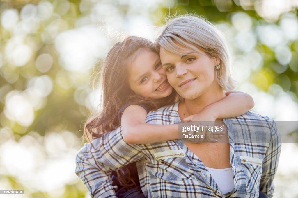 Mutter und Tochter Moment : Stock-Foto