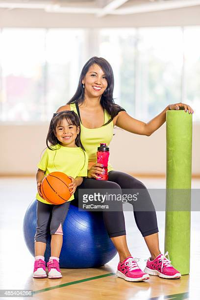 Mother and Daughter on Bosu Ball