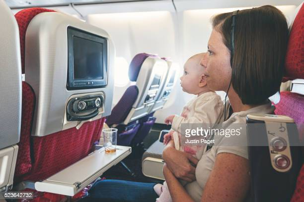 Mother and Daughter on Flight