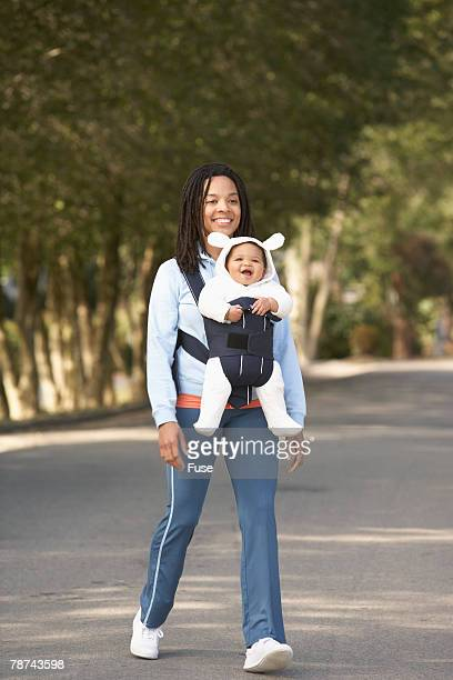 Mother and Daughter Out for a Walk