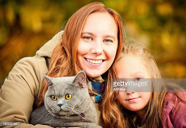 母と娘の屋外
