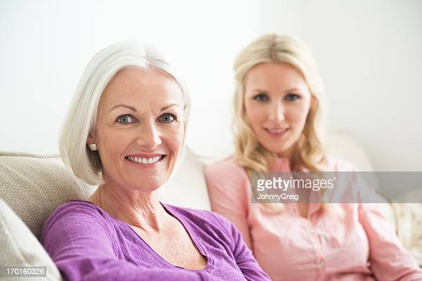 mother and daughter - gray eyes stock pictures, royalty-free photos & images