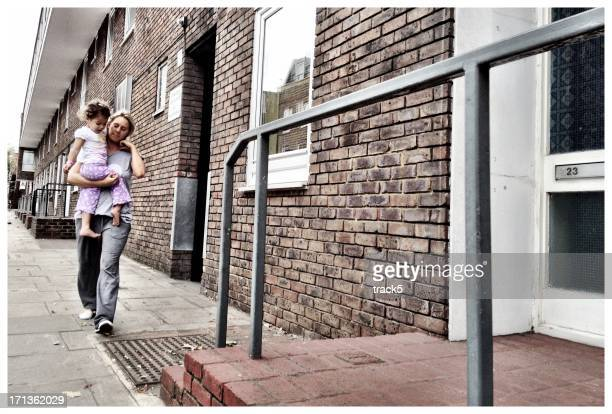 mother and daughter - poverty stock pictures, royalty-free photos & images