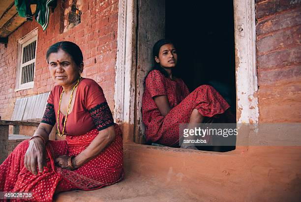 mother and daughter - nepalese ethnicity stock pictures, royalty-free photos & images