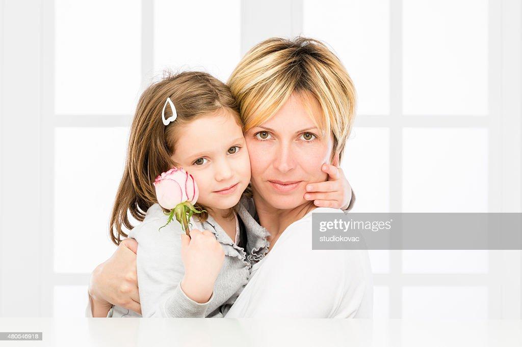 Mãe e filha. : Foto de stock