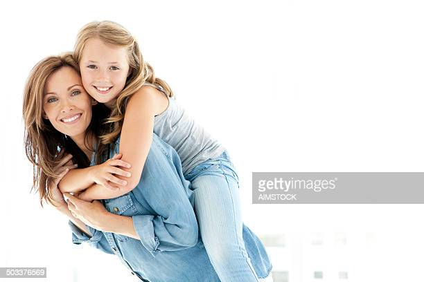 mother and daughter - white background stock pictures, royalty-free photos & images