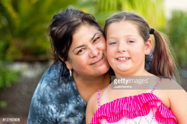 mother and daughter - chubby girl stock photos and pictures