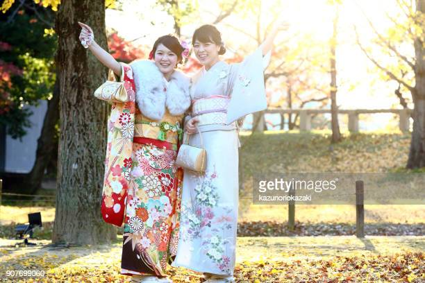 mother and daughter - seijin no hi stock pictures, royalty-free photos & images