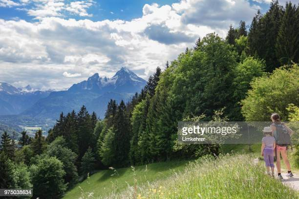 mother and daughter - salzburg stock pictures, royalty-free photos & images