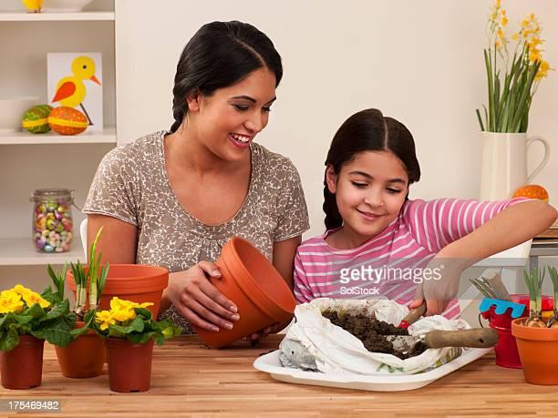 Madre e figlia Invasatura impianti