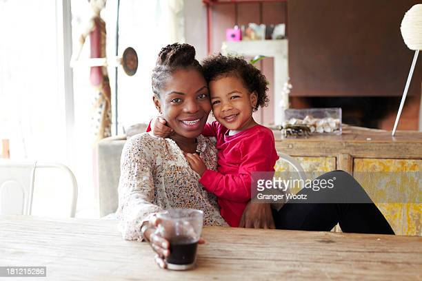 Mother and daughter relaxing together