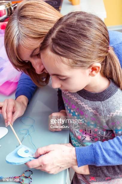 Mother And Daughter Sewing Princess Magic Wand
