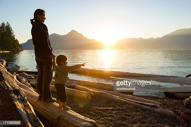 mother and daughter sharing a connection - british columbia stock pictures, royalty-free photos & images